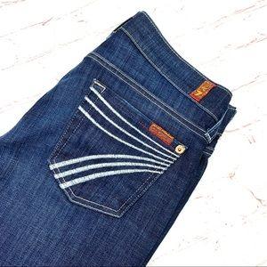  •7FAM•  'Dojo' Wide Leg Jeans 26x33